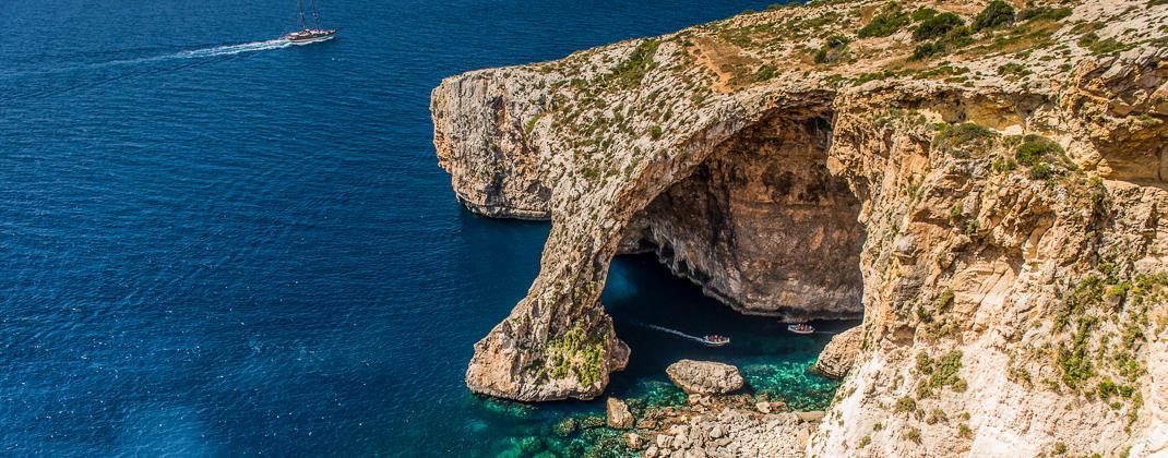 Blue Grotto - výlet lodí
