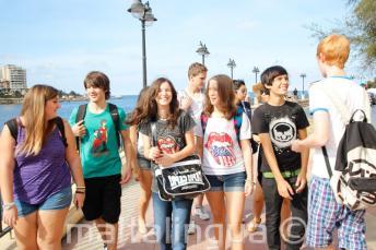 Procházky studentů v St Julian