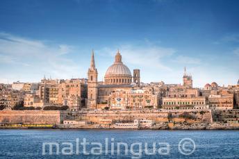 Výhled na Vallettu ze Sliemy