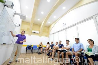 Klimatizované učebny v jazykové škole Maltalingua