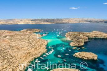 Pohled na Lagoon, Comino, Malta