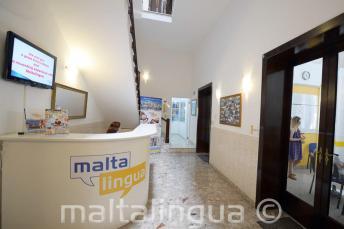 Recepce jazykové školy na Maltě