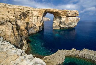 Pohled na Azure Window, Gozo