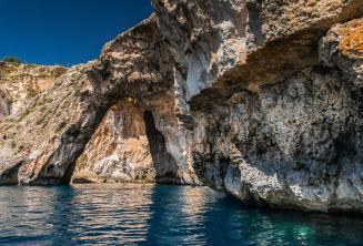 Skalní klenba na Blue Grotto, Malta