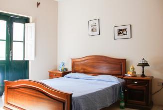 Ložnice v hostitelské rodině v St Julains