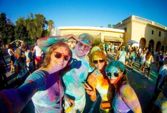 Holi color party in St Julian's